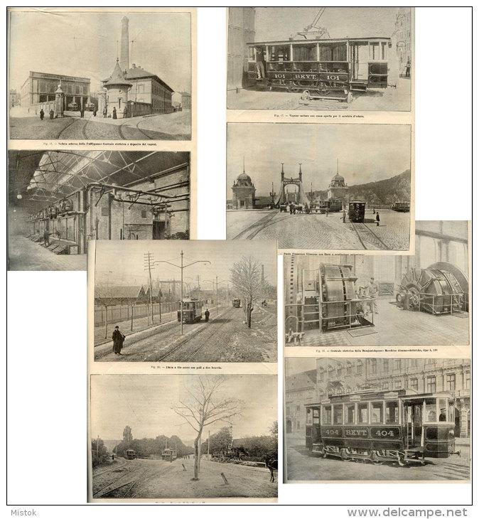 1899 Monitore Tecnico - TRAM Di BUDAPEST - Esposizione Elettricità COMO - Ponte Sulla Dora NUS E FENIS (Valle D´Aosta) - Documents Historiques