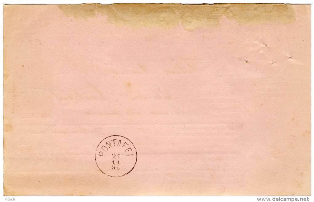 Österreich - Paketkarte 1890 Nach Palermo 50+10+3 1883 - Briefe U. Dokumente