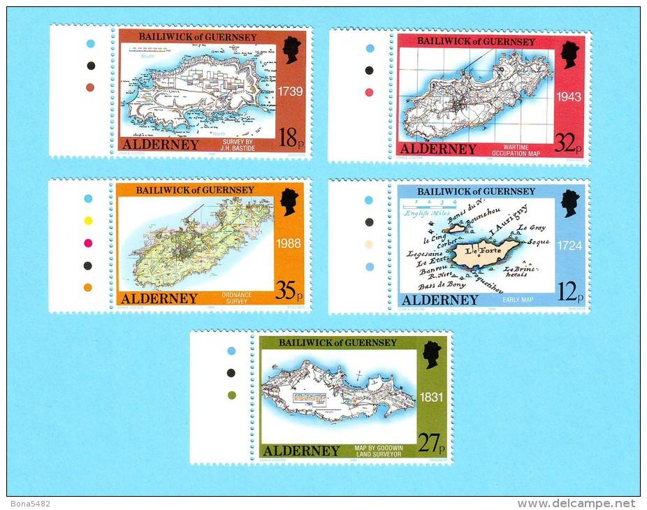 ALDERNEY CARTE ILES 1989 / MNH** / CV 09 - Alderney