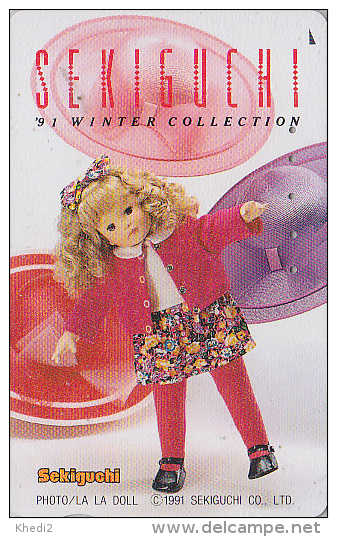 Télécarte Japon - Jouet - Jolie POUPEE / Winter Collection - DOLL Toy Japan Phonecard - PUPPE Telefonkarte - 14 - Jeux