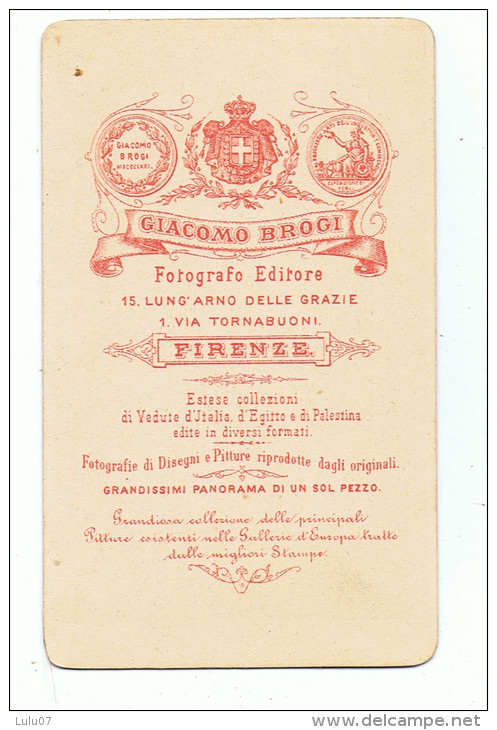 2  Photographies  Cartonnées    Frenze    6.5  X 10.5   Giacomo  BROGI - Photos