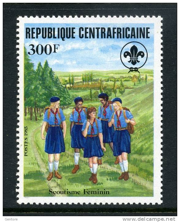 REP. CENTRAFRICANA 1985 Scoutism Yvert N° 674  Absolutely Perfect MNH ** - Scouting