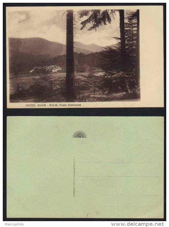 67 - ALSACE - SALM - SCHIRMECK /  HOTEL ADAM  CPA  NON CIRCULEE (ref CP107) - Schirmeck