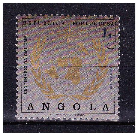 ANGOLA 1973 , World Weather Organisation Centenary ,     Y&T # 580   Cv  0.40  E ,     * MVLH , V V F - Angola