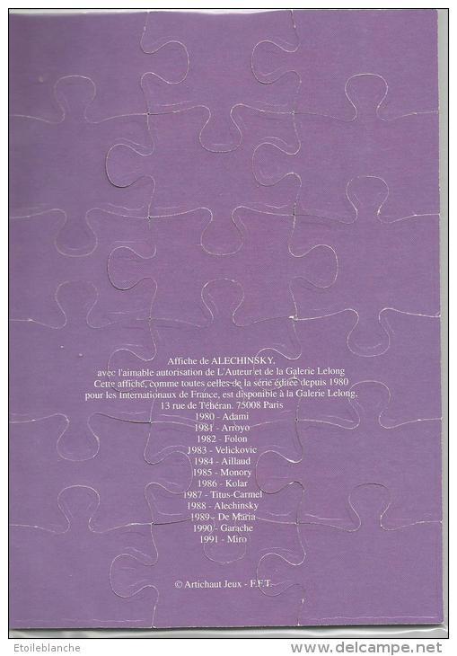 Roland Garros Paris 1988 - Affiche Tournoi International De Tennis / Puzzle, Sport / Dessin Alechinsky - Puzzles