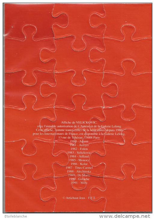 Roland Garros Paris 1983 / Affiche, Petit Puzzle, Sport, Tennis / Dessin De Velickovic / Joueurs, Balle - Puzzles