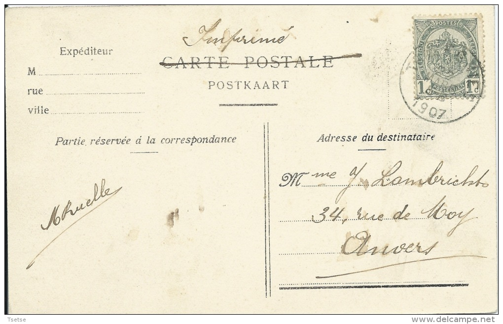 Trazegnies - Charbonnages - Puits N° 5 - 1907 ( Voir Scan ) - Courcelles
