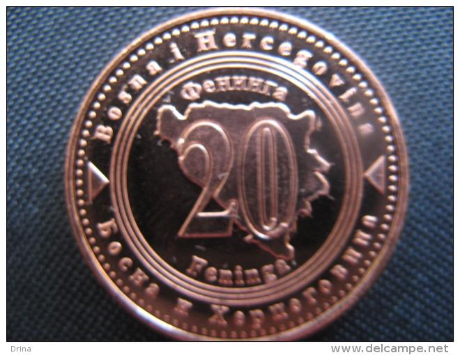 Coin 20 Feninga Bosnia And Hercegovina 2013, Unc - Bosnië En Herzegovina