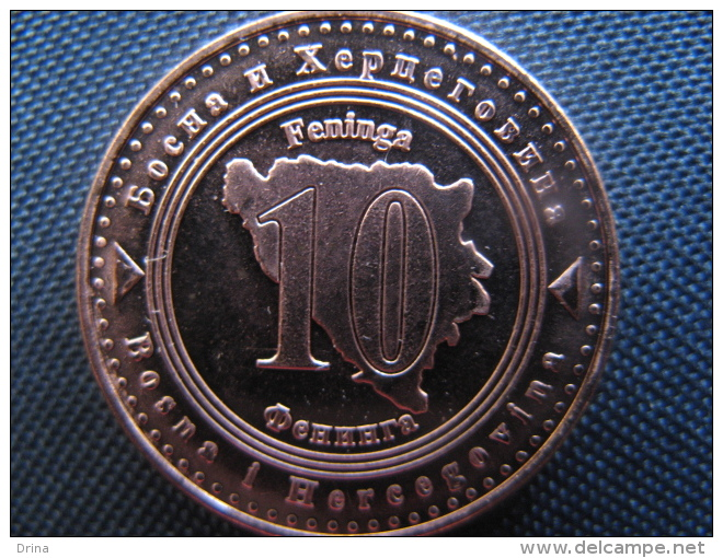 Coin 10 Feninga Bosnia And Hercegovina 2013, Unc - Bosnië En Herzegovina