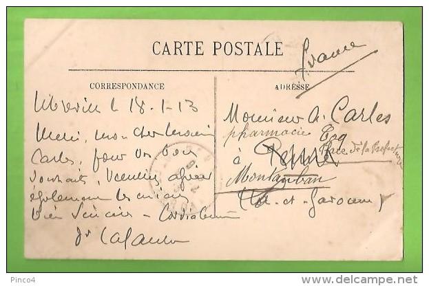 GABON LIBREVILLE LE MARCHE' CARTOLINA FORMATO PICCOLO VIAGGIATA NEL 1913 - Gabon