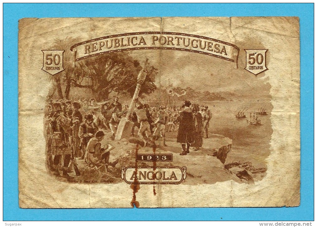 ANGOLA - 50 CENTAVOS - 1923 - P 63 - SÉRIE N/4 - Portugal - Angola