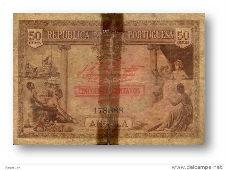 ANGOLA - 50 CENTAVOS - 1923 - P 63 - SÉRIE X/1 - Portugal - Angola