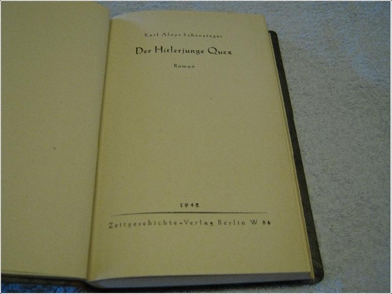 Der Hitlerjunge Quex Schensinger - Livres, BD, Revues