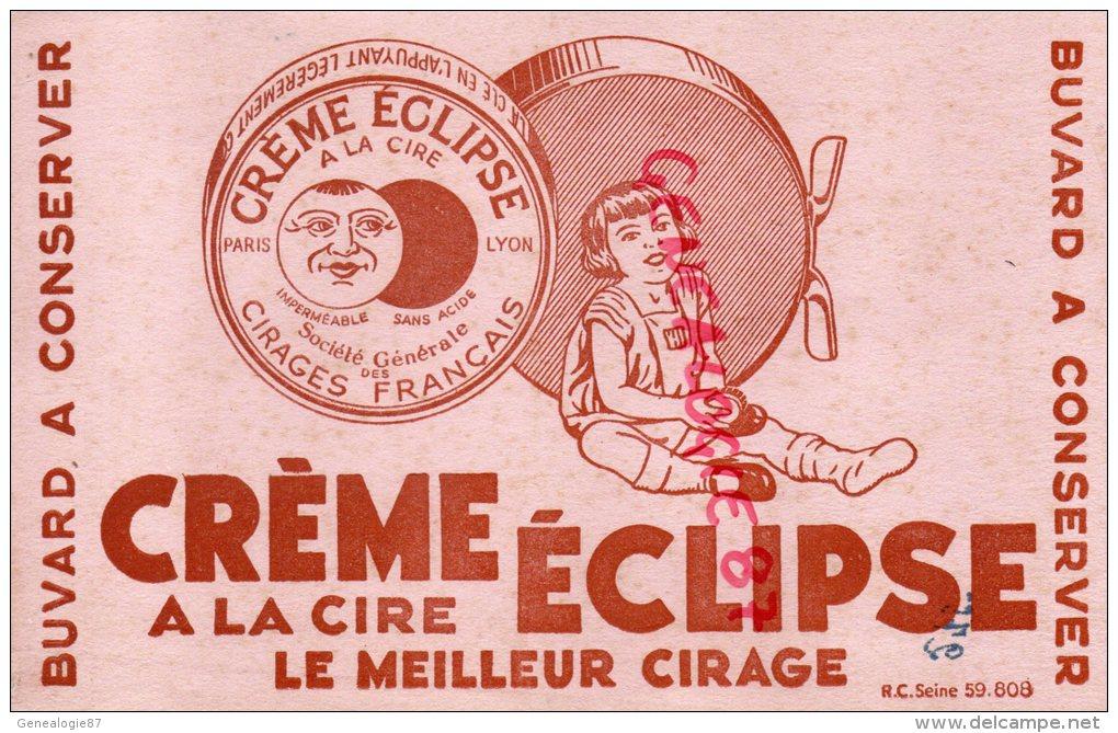BUVARD - CIRAGE - CREME ECLIPSE A LA CIRE- ENFANT CIRE SA CHAUSSURE- LUNE - Buvards, Protège-cahiers Illustrés