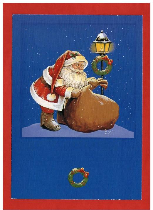 1237 -  CPM - Père Noël - Carte Signée -  Illustration Zéphir D´Elfe   (recto-verso) - Christmas