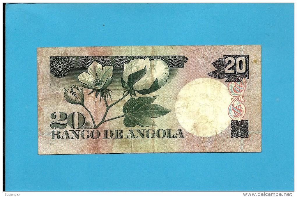 ANGOLA - 20 ESCUDOS - 10.06.1973 - P 104 - LUIZ DE CAMÕES - Angola