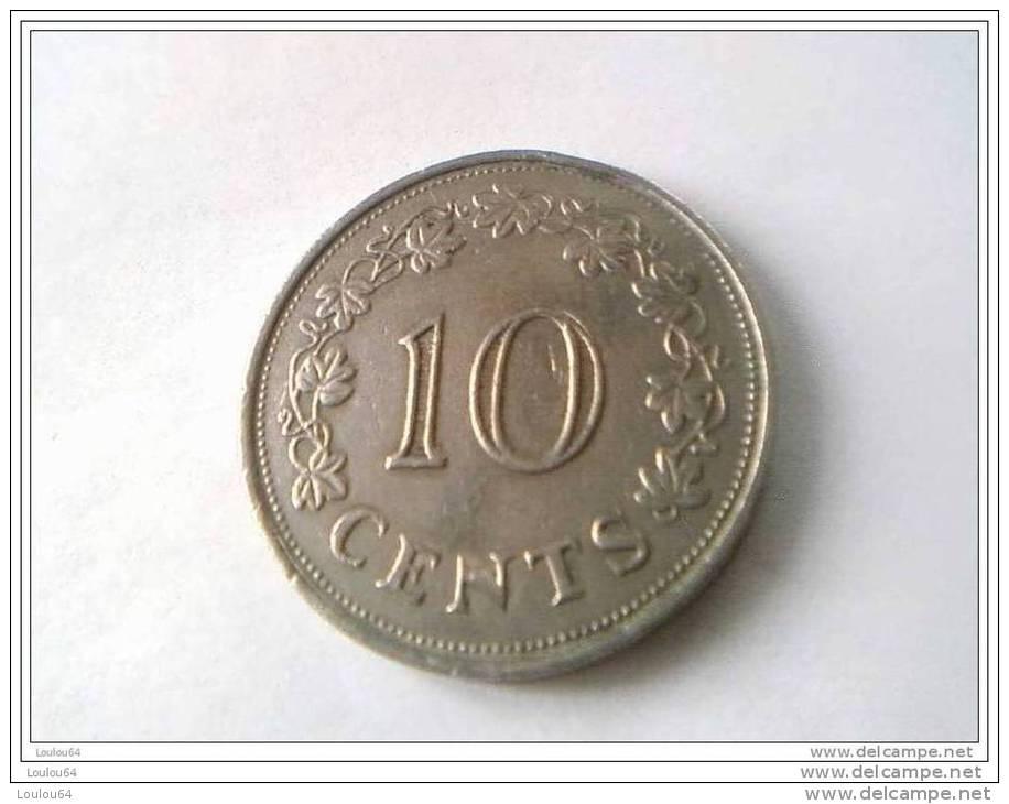 Monnaie - Malte - 10 Cents 1972 - - Malta