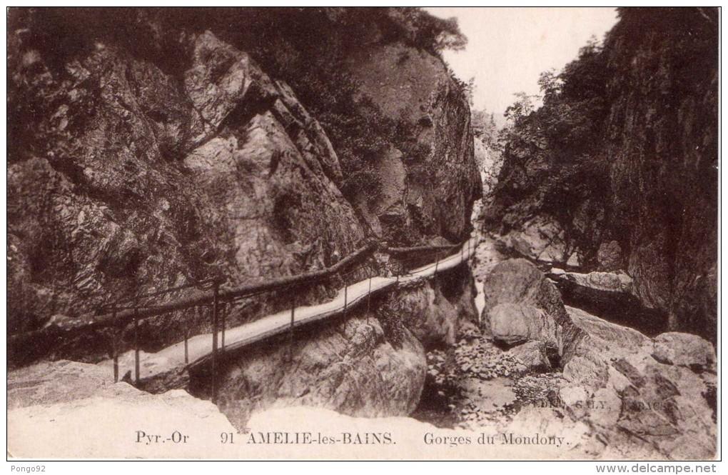 Cpa AMELIE LES BAINS, Gorges Du Mondony, Quelle Promenade !!!   (26.1) - Autres Communes