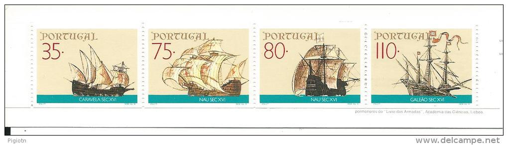 LIB042 - LIBRETTO 1844B PORTOGALLO -LE IMBARCAZIONI DEI NAVIGATORI -1991 - Libretti