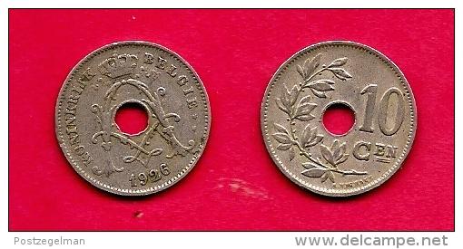 BELGIUM , 1920-1929, Circulated Coin, 10 Centimes, Dutch, Km86. C1640 - 1909-1934: Albert I