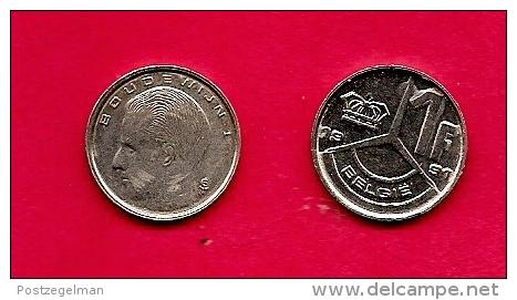 BELGIUM , 1989-93, Circulated Coin, 1 Franc, Dutch, Km171, C1644 - 1951-1993: Baudouin I