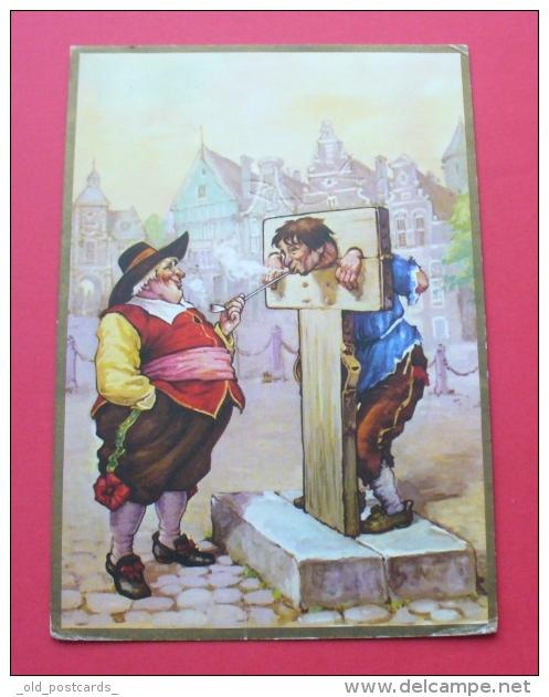Tobacco Humor - TROOST Holland - Old Postcard --- 18 Tab.nieskl - Tabac (objets Liés)