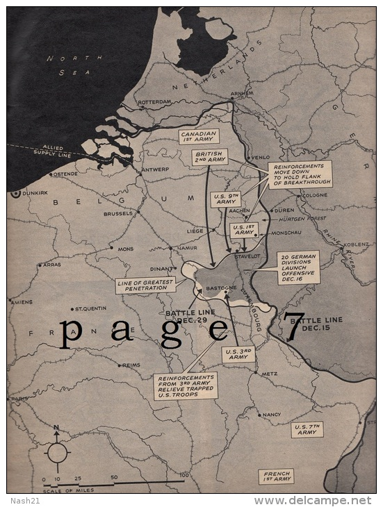 Revue ' LIFE ' Du  08 Janvier 1945 - 51 Pages En Anglais - - Forces Armées Américaines