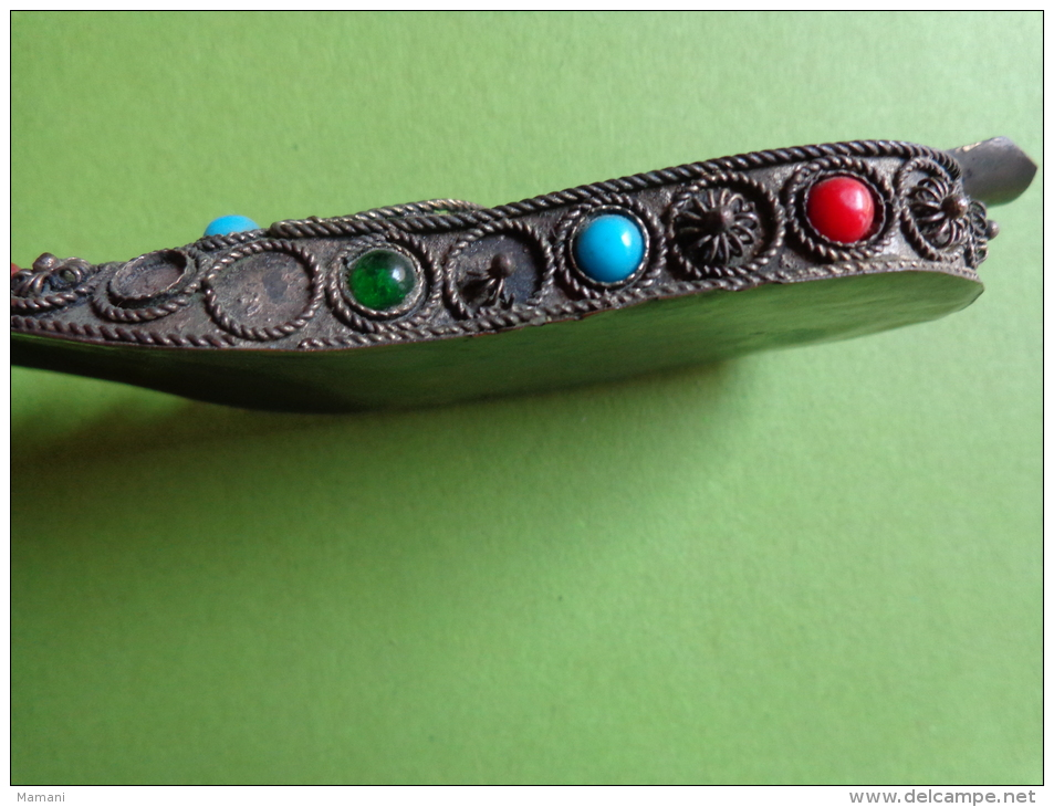 Cendrier En Forme De Chaussure -avec Perles-origine A Determiner -- - Metall