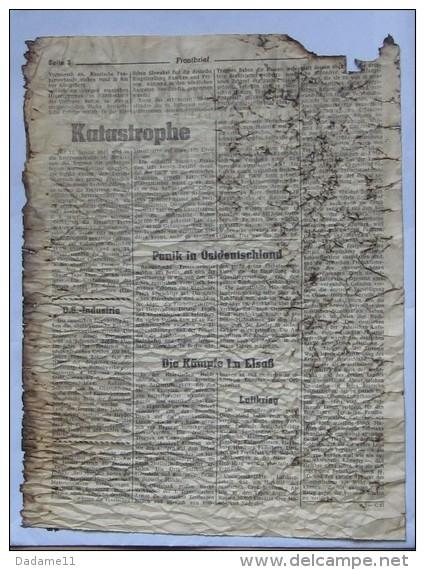 Journal De Front Janvier 45 Combat En Alsace Tirés Par Obus En 1945 Sur Les Lignes - Documents