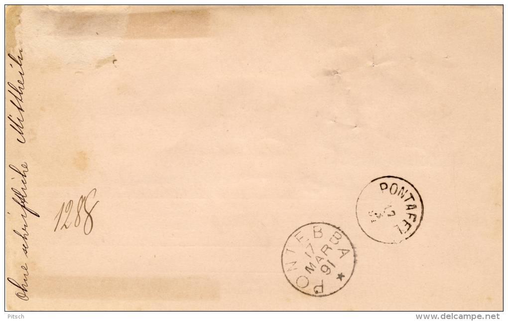Österreich - Paketkarte 1890 Nach Palermo Mischfrankatur 3+50 Kreuzer 1890+ 10 Kreuzer 1883 - 1850-1918 Imperium