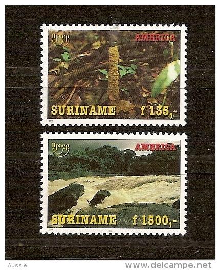 Suriname 1995 Yvertn° 1367-68 *** MNH Cote 90 FF Flore Fôrets - Surinam