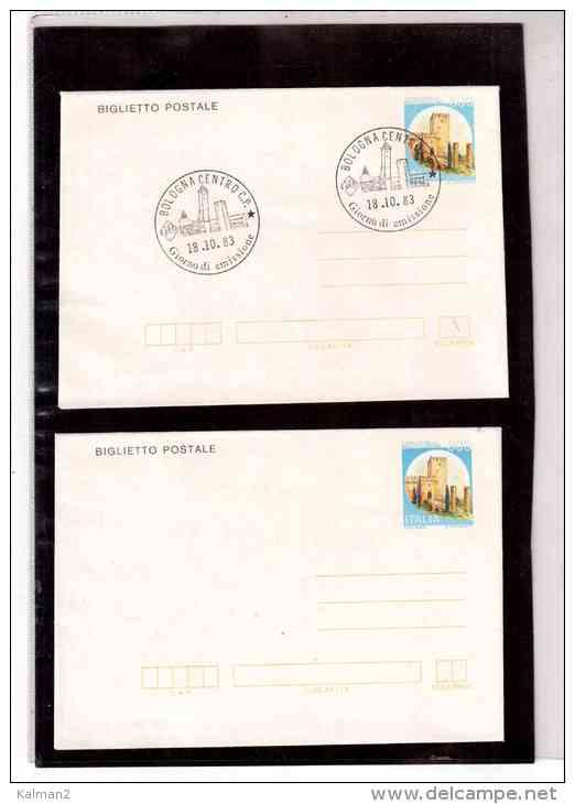 FDC2017  -      CAT.FILAGRANO   B. 56   -   NUOVO +   FDC   18.10.1983 - Castles