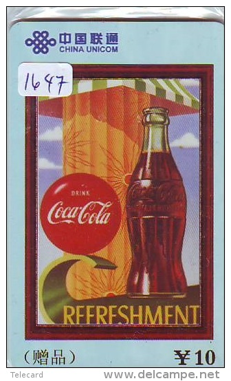 Télécarte  * COCA COLA *  PHONECARD (1647) COKE * TELEFONKARTE * - Advertising