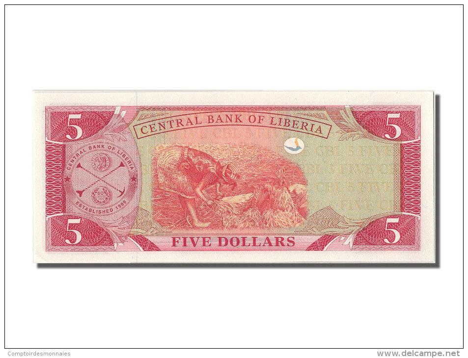 [#302298] Liberia, 5 Dollars Type Edward J. Roye - Liberia