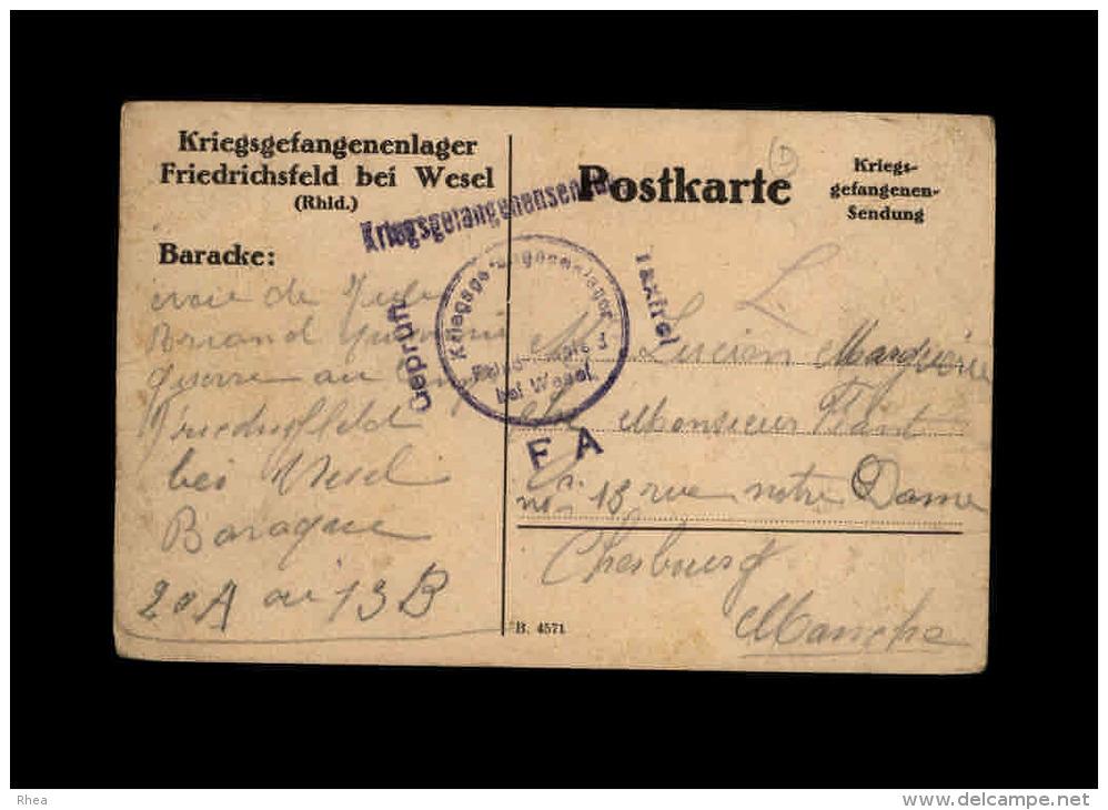 MILITARIA - FRANCHISE MILITAIRE - Carte Allemande - Marcophilie (Lettres)