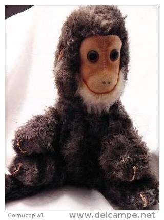 1972 FUNNY SMILING STUFFED MONKEY DOLL ISRAEL - Steiff Animals