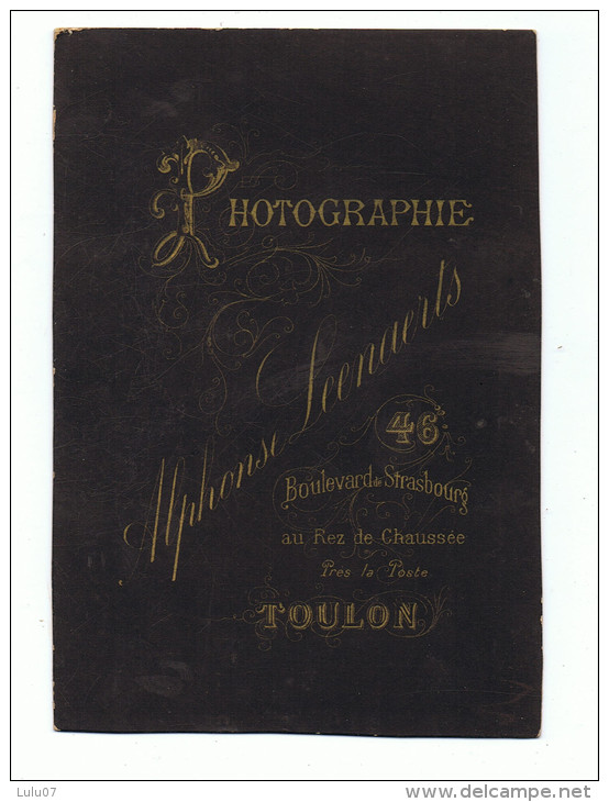 Grande  Photo Cartonnée  10.5cm X 15 Cm  Alphonse   Leenaerts    Toulon - Fotos