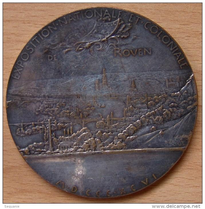 Médaille Exposition National Et Coloniale De ROUEN 1896 - Professionnels / De Société