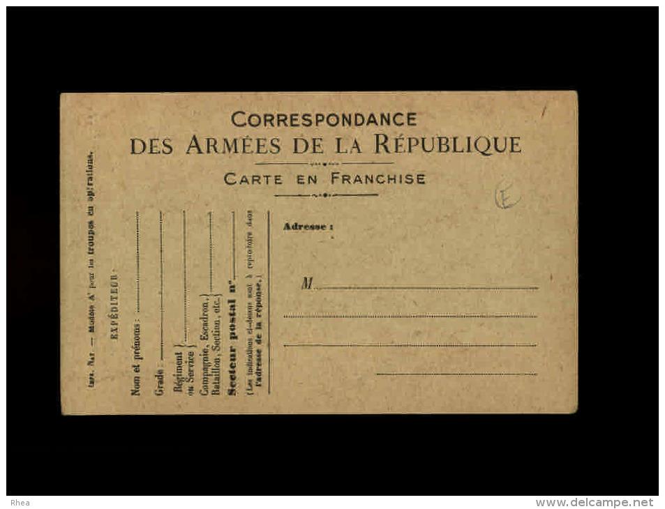 MILITARIA - FRANCHISE MILITAIRE - Dessin De FOUQUERAY - Marcophilie (Lettres)