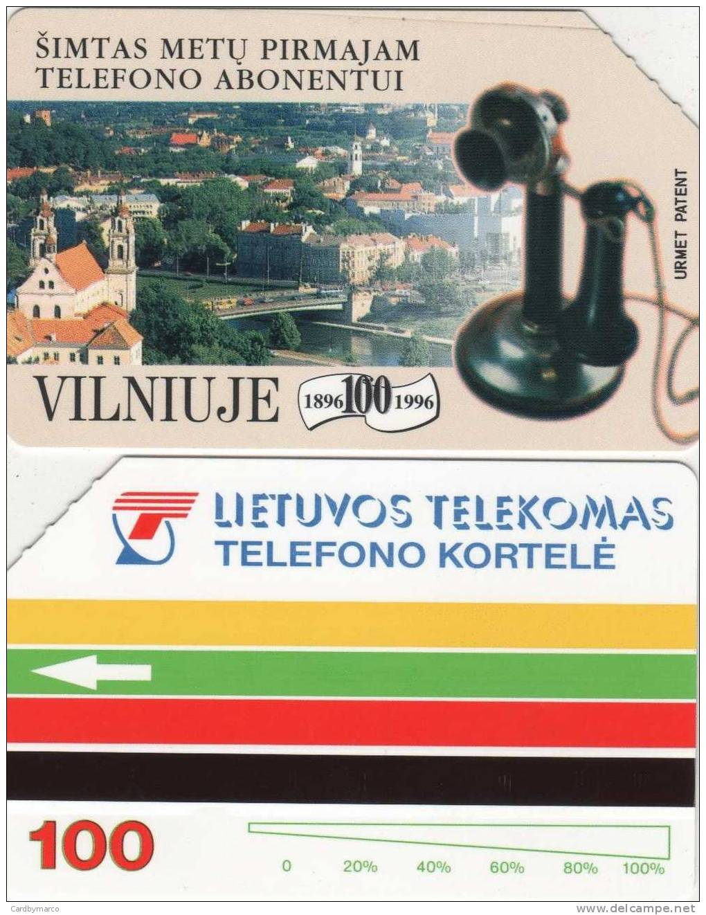 *LITUANIA* -  Scheda Usata - Telefoni