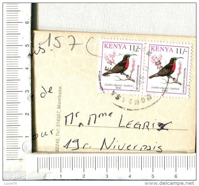 KENYA -  MOMBASA -  Is Towards  The South Kenya´s Superb Coastine Of  480 Km  - 2 Timbres  : Scarlet Chested Sunbird - Kenya