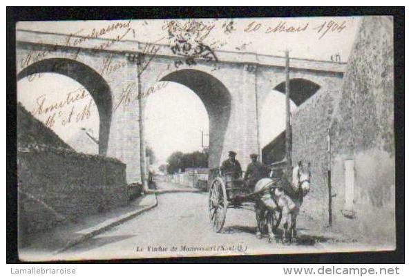 78 - LE VIADUC DE MAURECOURT - ATTELAGE - CARTE A DOS SIMPLE - Maurecourt