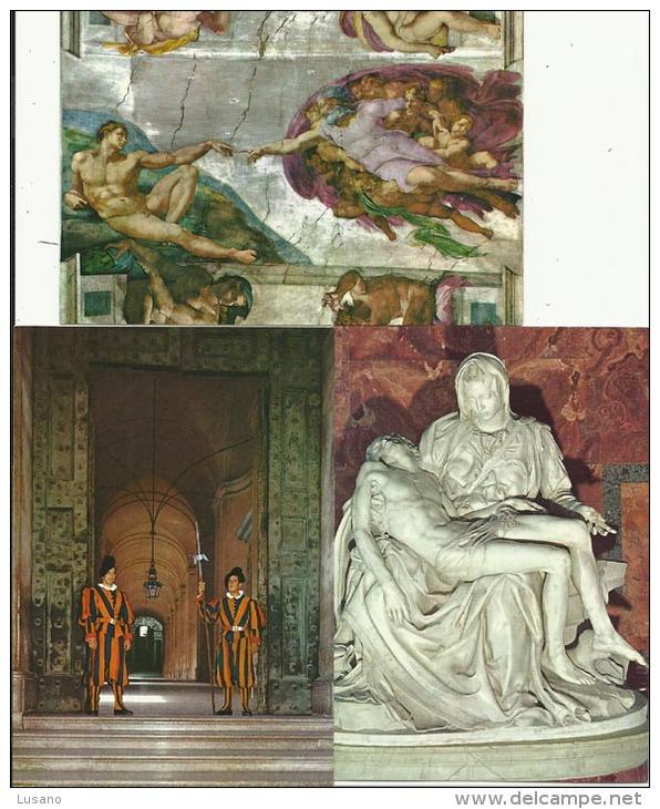 VATICAN - Lot De 7 CPM Non écrites - Vaticano