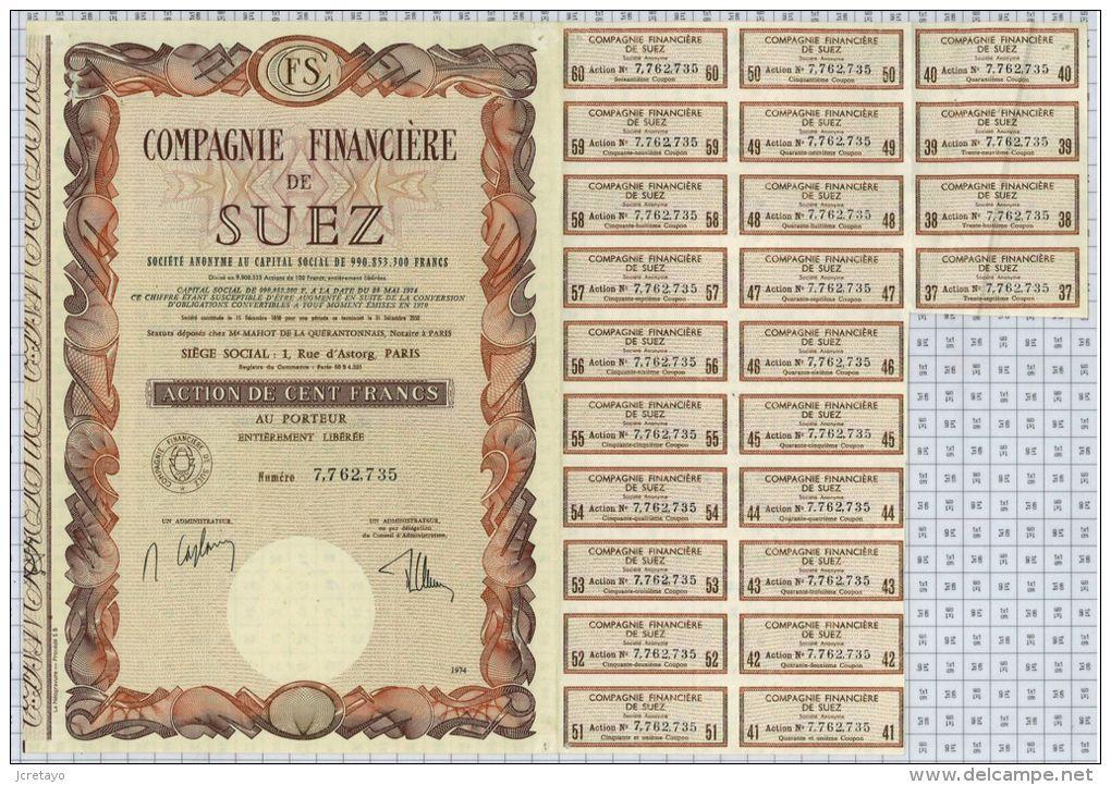 Cie Financiere De Suez - Banque & Assurance
