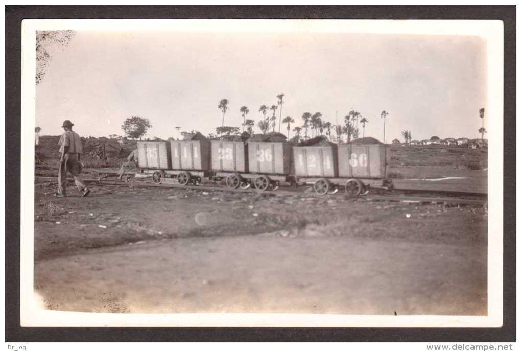 TR6) La Brea - Rail Cars Of Asphalt From Pitch Lake - RPPC Ca.1920s - Trinidad