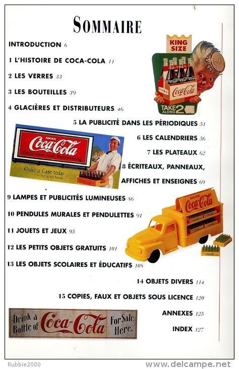 COCA COLA GUIDE COLLECTIONNEUR DES OBJETS COCA COLA 1996 AVEC BOUTEILLE EN RELIEF SUR LA COUVERTURE - Livres