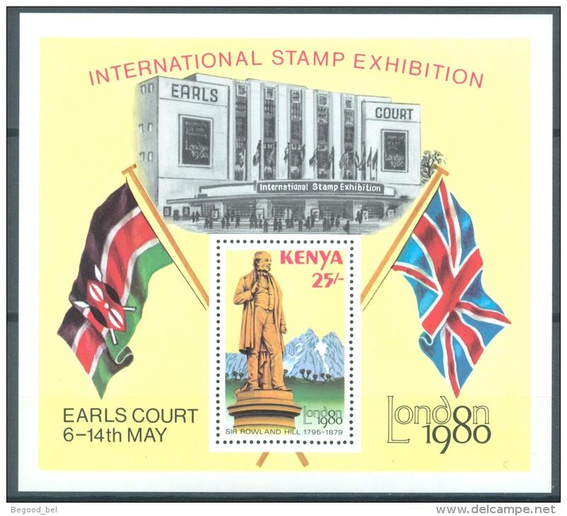 KENYA - 1980  - MNH/*** LUXE - LONDON 1980 ROWLAND HILL - Mi BLOCK 14 Yv BLOC 13 -  Lot 9065 - Kenya (1963-...)