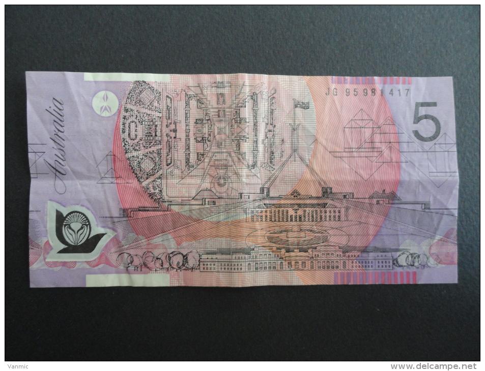 Billet 5 Dollars Australie - Note Banknote Australia - JG 95981417 - Australië