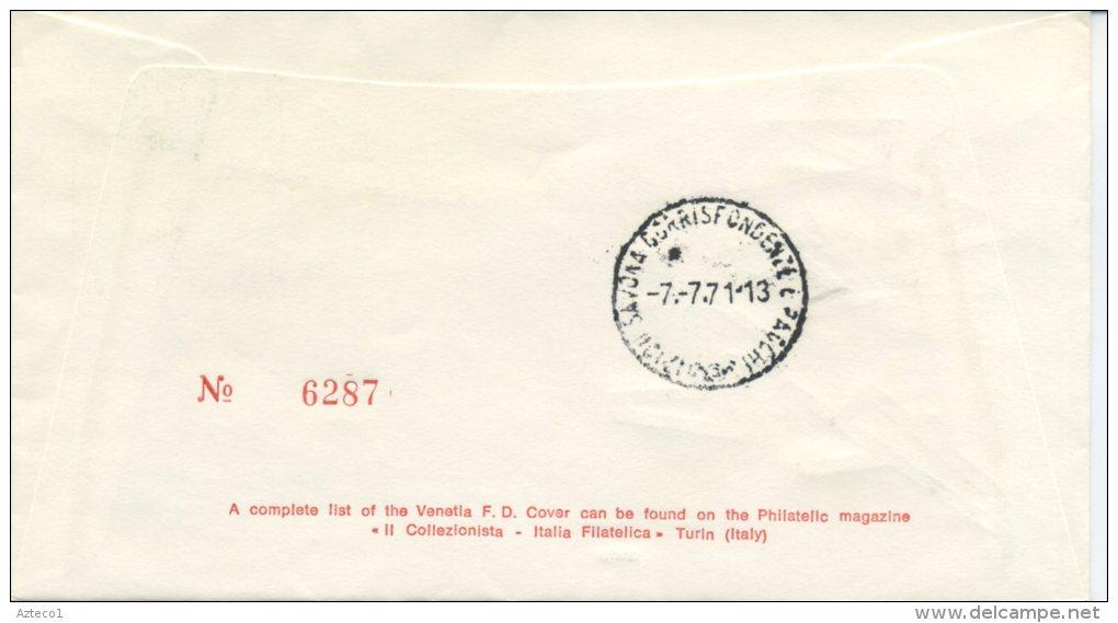 ITALIA - FDC VENETIA  1971 -  GIOCHI DELLA GIOVENTU´ - SPORT - ANNULLO SPECIALE - VIAGGIATA PER SAVONA - F.D.C.