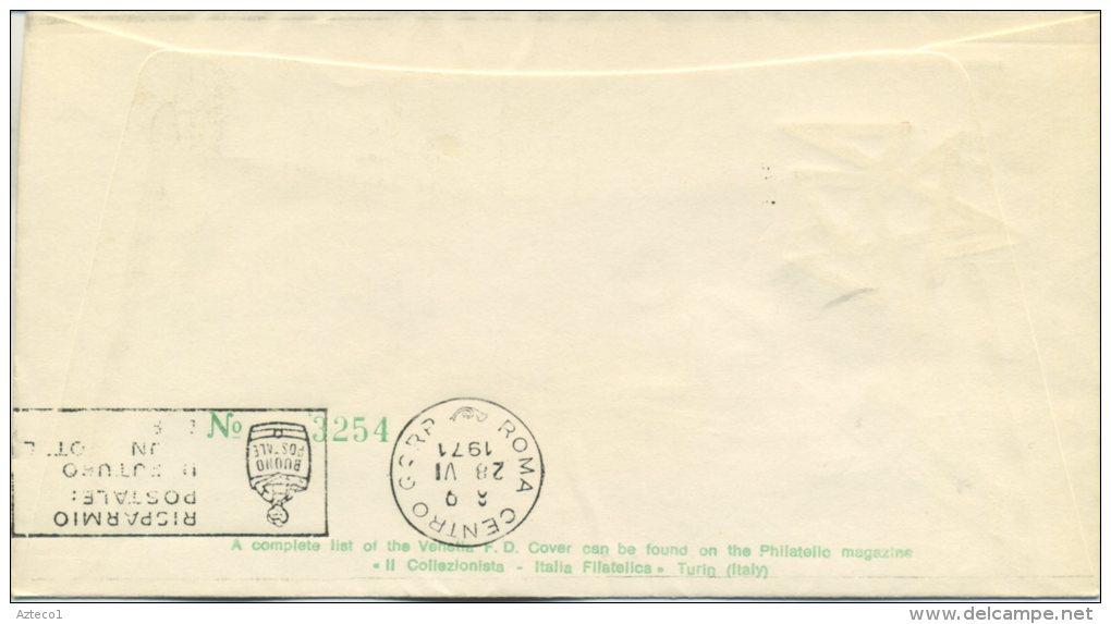 ITALIA - FDC VENETIA  1971 -  GIOCHI DELLA GIOVENTU´ - SPORT - ANNULLO A TARGHETTA - VIAGGIATA PER ROMA - F.D.C.